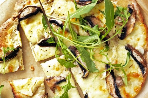 Beat the dinner rush with this quick, easy and tasty recipe for Portabella Pizza Bianca.