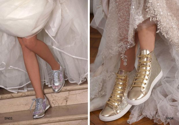 Scarpe da ginnastica per la sposa sportiva http://sposafaidate.com/scarpe-da-ginnastica-per-la-sposa-sportiva/