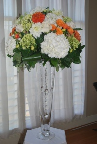 One of our wedding arrangements at Columbia Winery