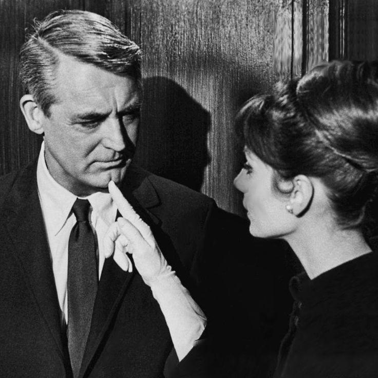 "Audrey Hepburn y Cary Grant en ""Charada"" (Charade), 1963"