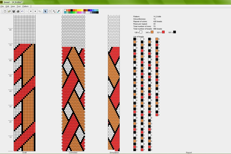 14 around bead crochet