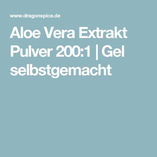 Aloe Vera Extrakt Pulver 200:1 | Gel selbstgemacht