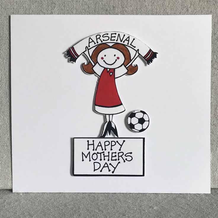 A personal favourite from my Etsy shop https://www.etsy.com/uk/listing/583327674/arsenal-mothers-day-football