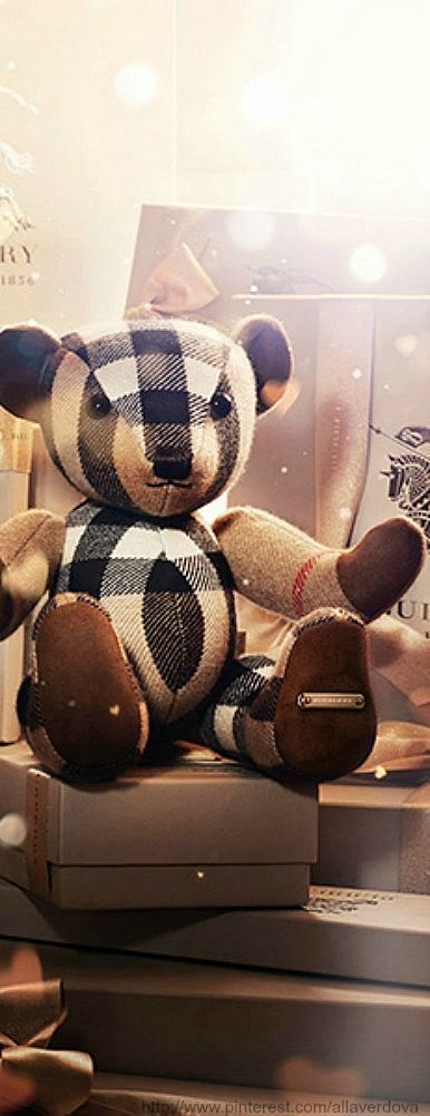 «With love» from Burberry for Christmas: Burberry ️, Gift, Check, Teddy Bears, Burberry Bear This, Alligator Teddy, Burberry Baby, Burberry Christmas