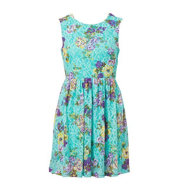 Hot Options Floral Lace Dress - Aruba