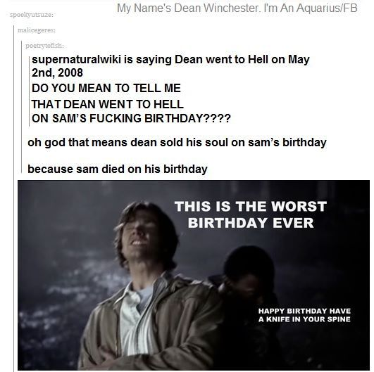 Dean didn't sell his soul on Sam's birthday because Sam was dead for like 2 days before he went to the cross roads.
