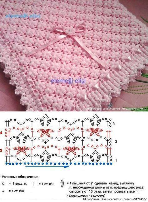 Нежный розовый плед (http://postila.ru/post/34325342)