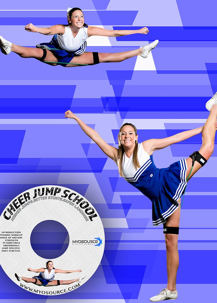 Cheerleading Tryouts: 8 step cheerleading workout using resistance bands (Kinetic Bands) to help cheerleaders become stronger, more flexible and balanced, increase endurance, and improve their jumps, stunts, and tumbling. Use coupon code PINIT15 for 15% off cheerleading equipment.