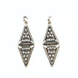 Geometric Crystal Earring