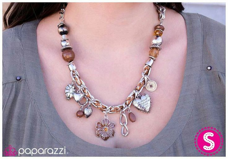 Charmed I'm sure in brown blockbuster #jewelry #necklace www.paparazziaccessories.com/36910. $5.00