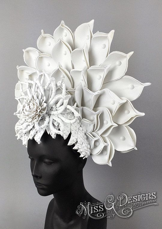 White Lotus Headdress by MissGDesignsShop on Etsy                                                                                                                                                     More