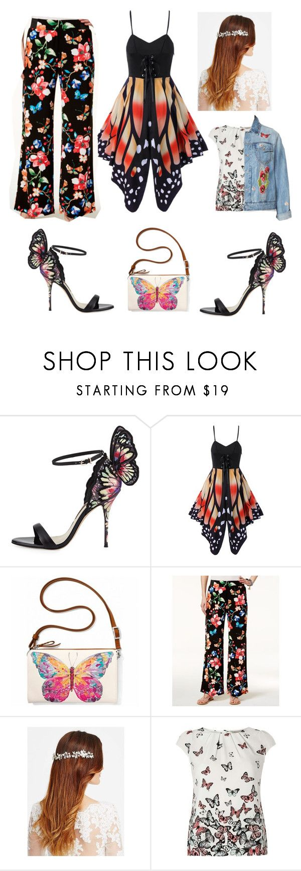"""""""butterfly"""" by bunnyboo2004 ❤ liked on Polyvore featuring Sophia Webster, Brighton, INC International Concepts, Jon Richard, Billie & Blossom, Bagatelle and plus size clothing"""