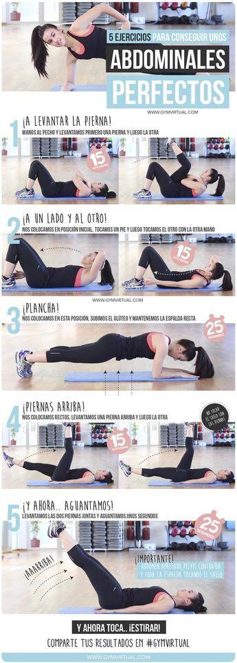 Rutina para unos abdominales perfectos. #PreparaciónFísica #Deporte.