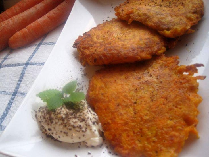 Placki dietetyczne z marchewki