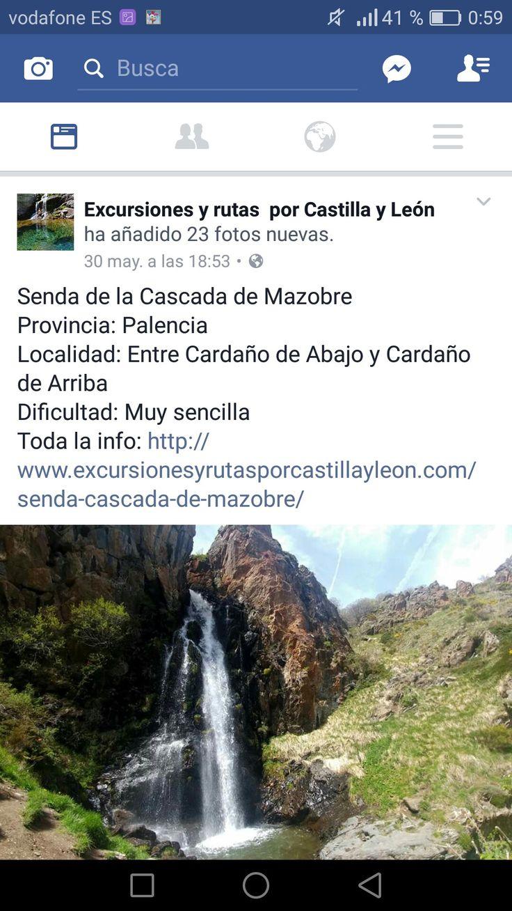 Cascada Mazobre, Palencia