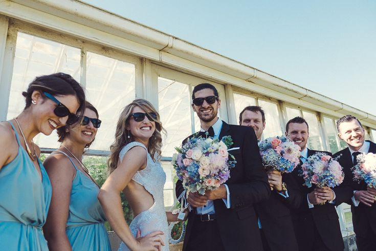 Bridesmaids sunglasses RayBan wedding Melbourne Australia photographer