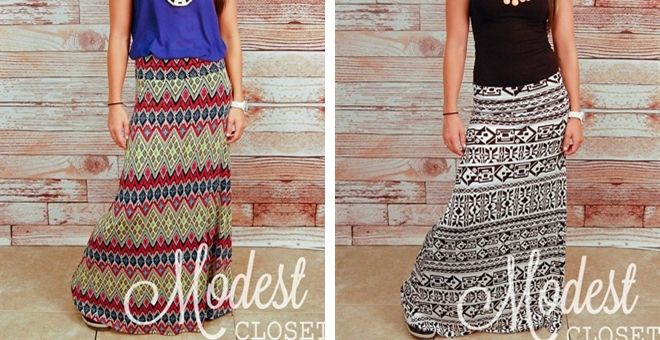 Aztec Maxi Skirts! This site has a ton of really cute in style clothes for great prices! Check it out!