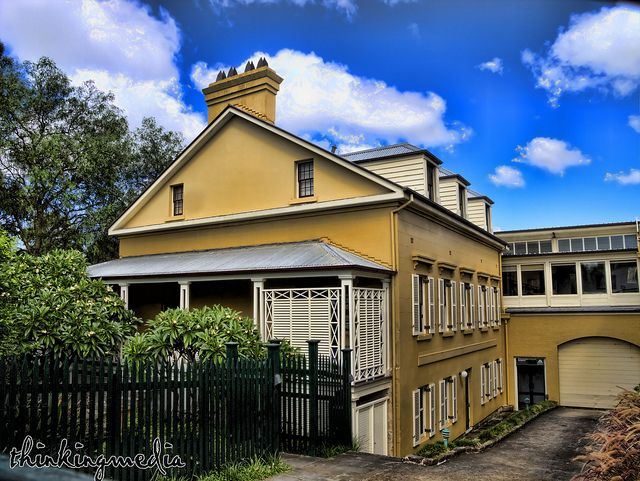 Rothwell Lodge & Factory c.1840s See where this picture was taken. [?] One of earliest surviving houses in Glebe, early Victorian Georgian Style. Built for Rev. W.B.Boyce by George Allen See where this picture was taken. [?] One of earliest sur...