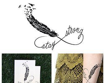 Imposta il simbolo di infinito  temporaneo tatuaggio Set di di Tattify | Etsy