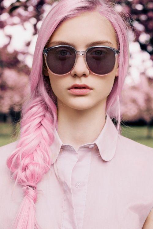 #cheveux #pastel rose tresse