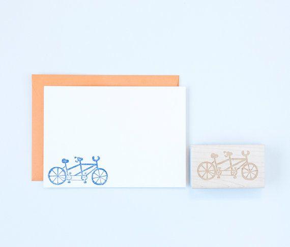 Vélo tandem tampon mariages par FelicetteShop sur Etsy