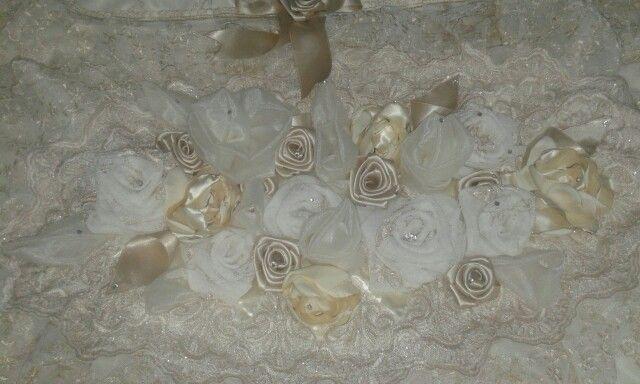 Rose di stoffa per un tappeto per la Camera da letto