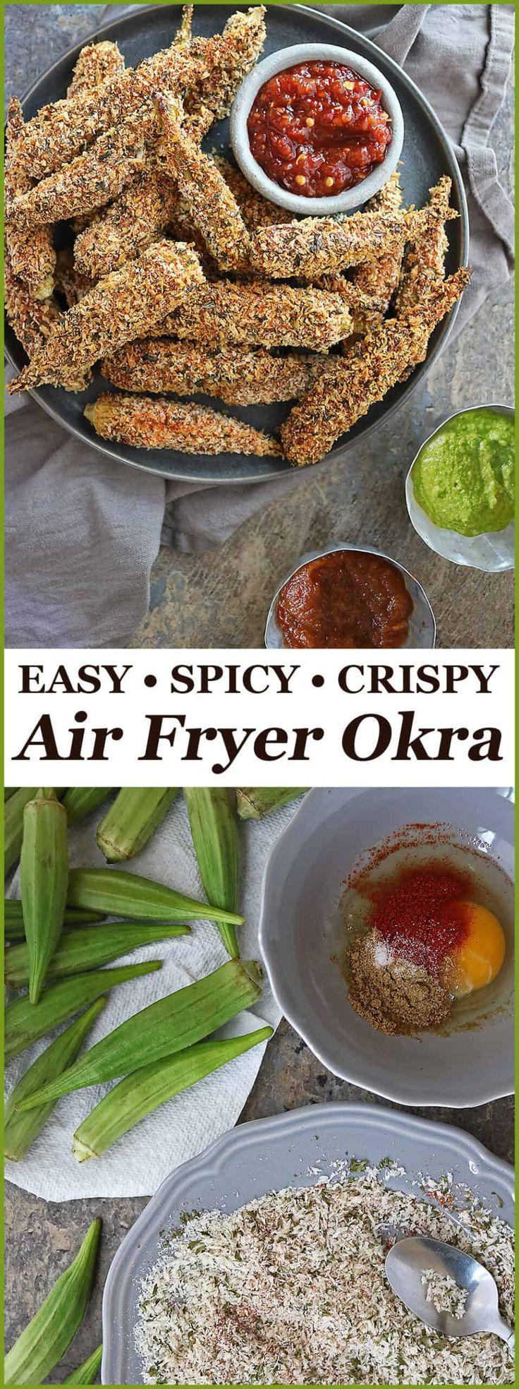 Crispy Spicy Air Fryer Okra Recipe Savory Spin Recipe