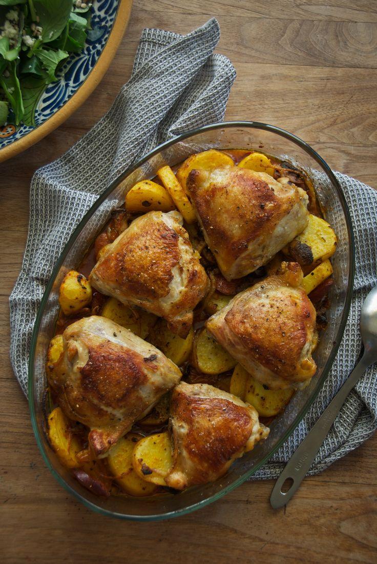 Easy Baked Chicken & Chorizo (Gluten Free) - Rusty Skillet Blog
