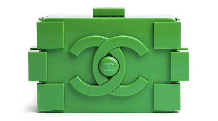 karl lagerfeld designs LEGO clutches for chanel