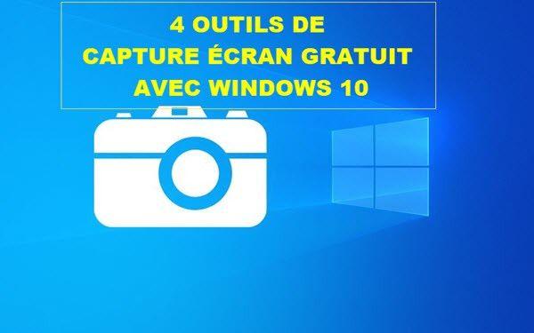Comment Realiser Une Capture D Ecran Gratuit Sous Windows 10 En 2020 Windows 10 Microsoft Store Ecran