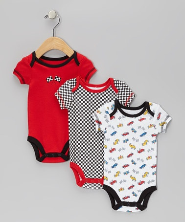 Red Racing Bodysuit Set - Infant ~ 50% OFF ~ great baby shower gift