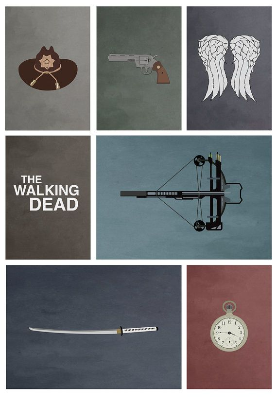 The Walking Dead (8x10, 11x14, 11x17, or 13x19) ALT TV on Etsy, $14.00
