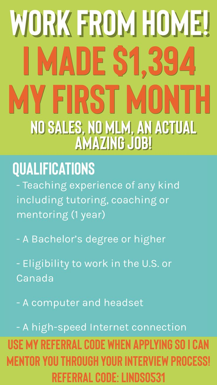 Work from home job if you have a bachelor's degree!! The