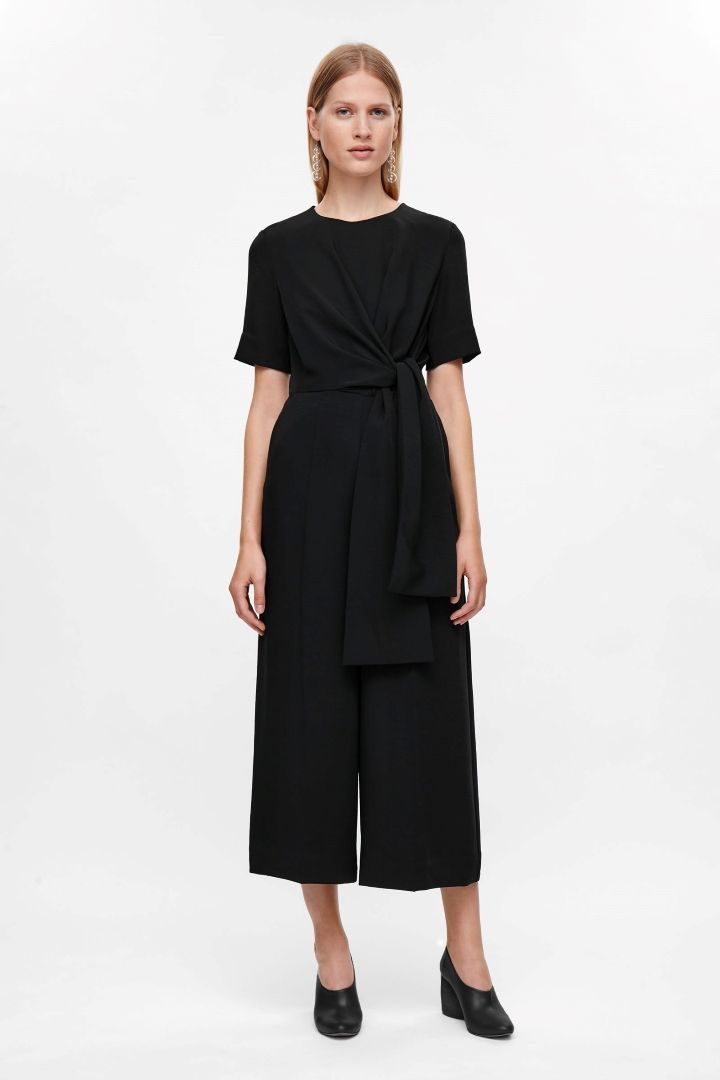 COS | Jumpsuit with draped top