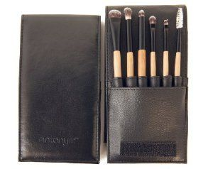 Antonym Cosmetics Professional 6 Brush Set - Eyes by Antonym Cosmetics. $67.00. made with eco friendly and cruelty free materials. Professional quality makeup brushes. top quality synthetic bristles with softness and pickup comparabe to the finest natural hair. Large eye shader, Blending brush, Large pencil brush, Small eye shader, Small angled, Mascara brow brush and pouch.