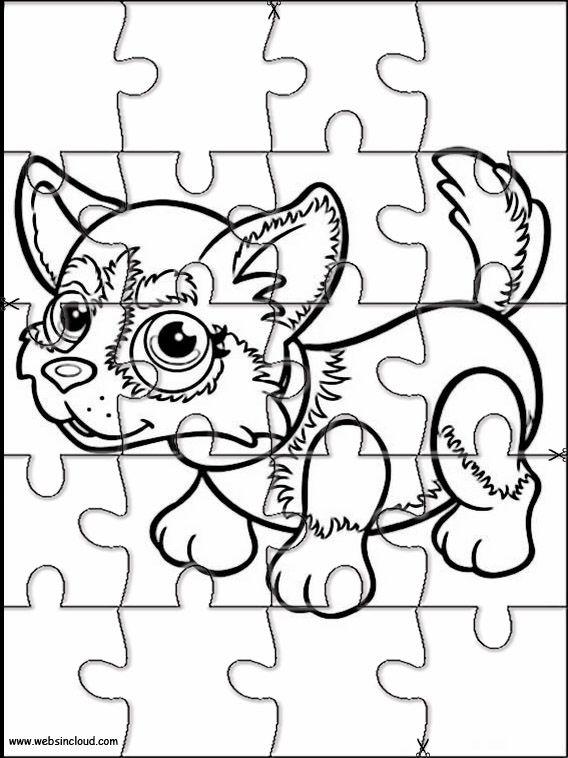 Pet Parade 12, um Rätsel zu drucken. Aktivitäten für Kinder   – Puzzlespiele zum ausdrucken für Kinder