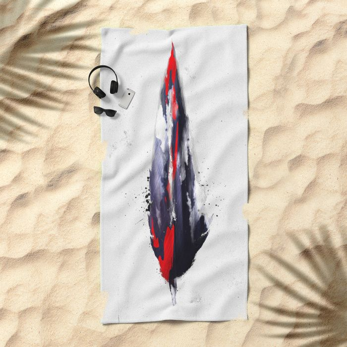 The American feather Beach Towel by HappyMelvin | Society6