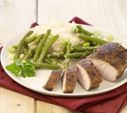 Recept » Colruyt Culinair kruidige kipfilet met pittige boontjes)