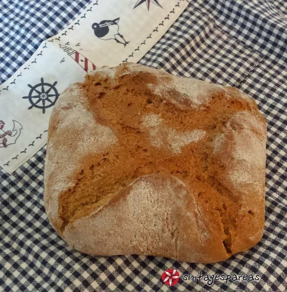 Ζυμωτό ψωμί με αλεύρι ζέας #sintagespareas #psomizimoto