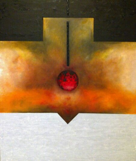 Oil and sand over canvas by Jesús Ojeda. 2010. (120x100 cm)