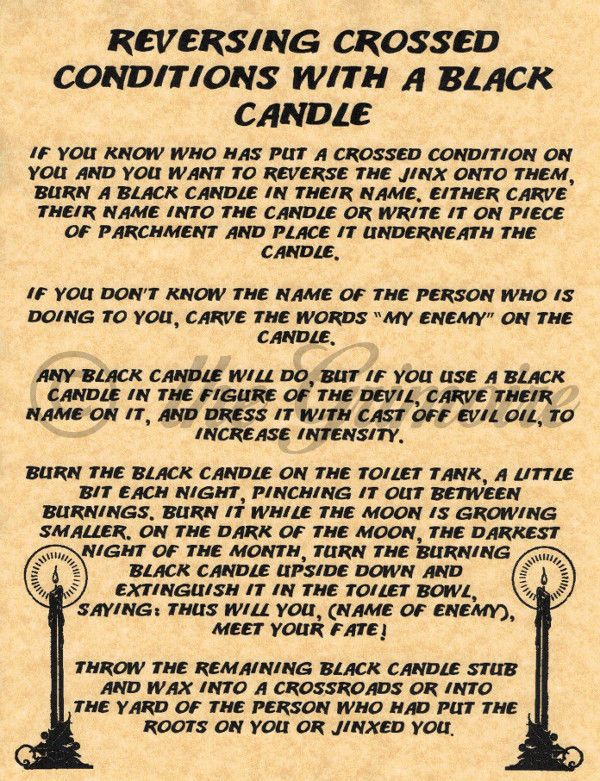 Magick Spells:  Reversing Crossed Conditions with a Black Candle #Spell.