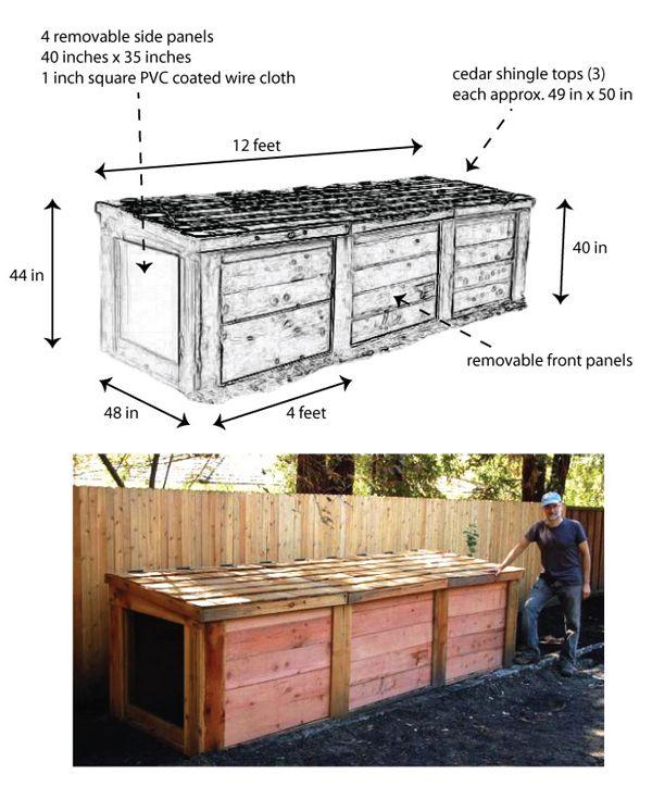 3 bin compost bin mt diablo compost system specs garden craftsman compost
