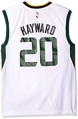 a22852a85 Amazon.com   NBA Men s Utah Jazz Gordon Hayward Replica Player Home Jersey