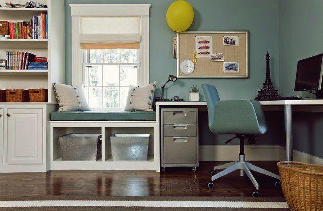 30 Inspirierende Ideen für gemütliche Fensterplätze   Window seat design, Home office design ...