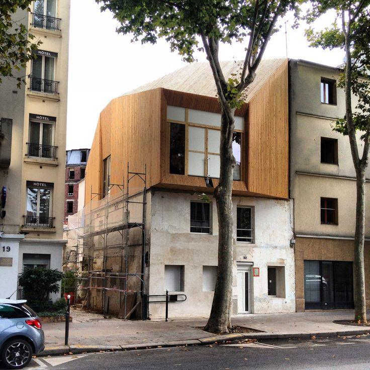 Surélévation d'une maison. #paris13 #mirarchitectes