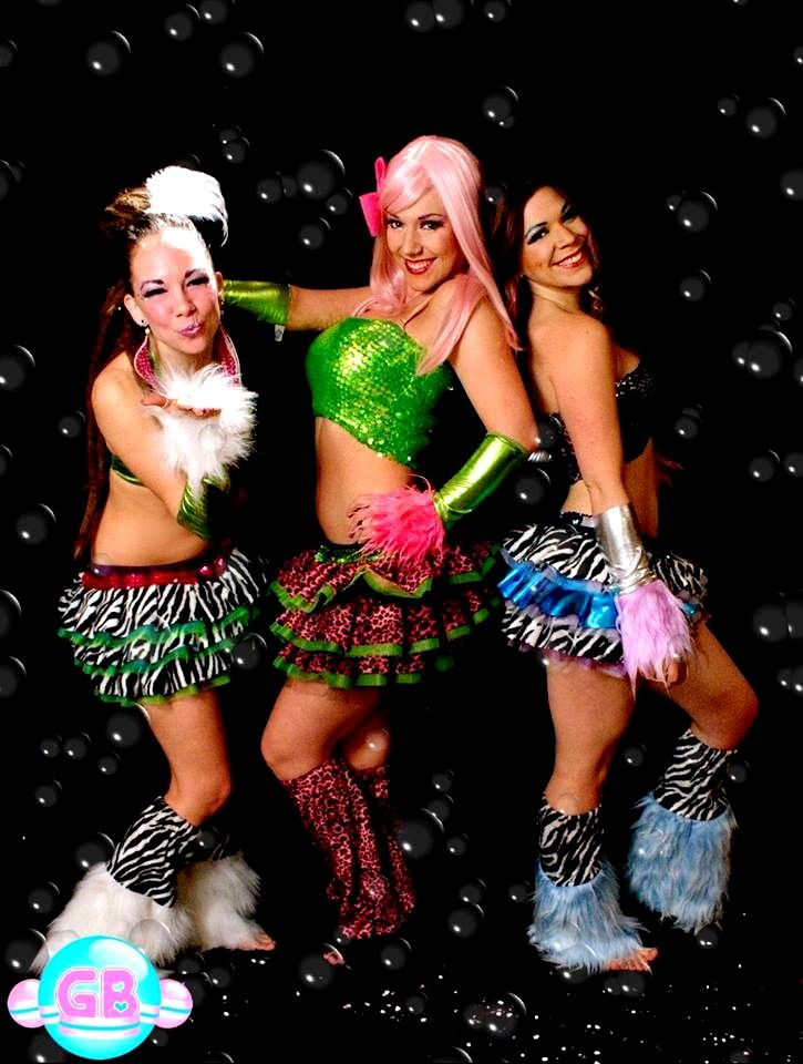 Custom Clubwear by Glitter Bubbles *GB tutus *GB fluffies *GB sparkle bandeau tops  *GB gauntlets