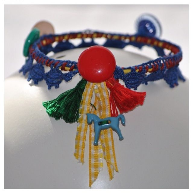 Bracelet made of sewing materials