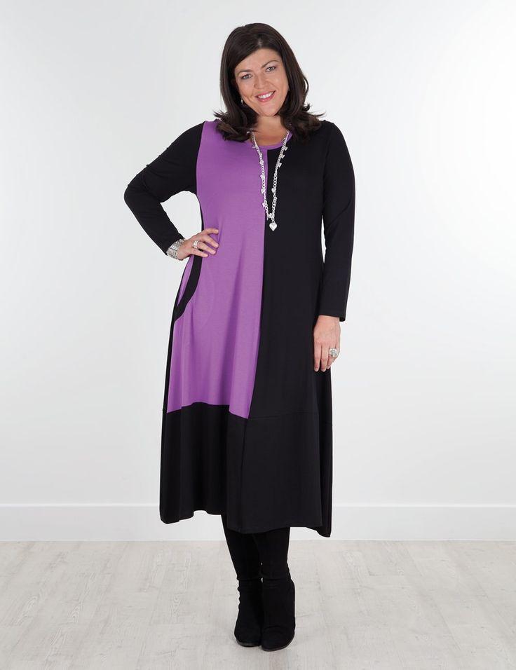 Diana+black/purple+dress
