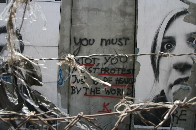 West Bank wall graffiti - Bethlehem, West Bank