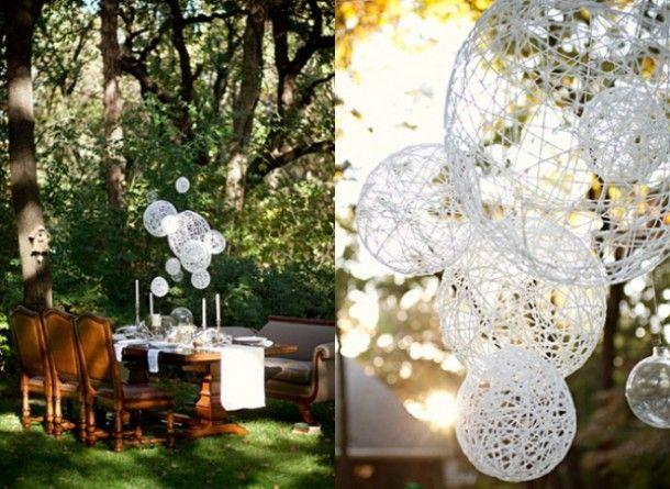 tuin en veranda ideeen | Make lanterns using balloons, glue and twine Door Noompje